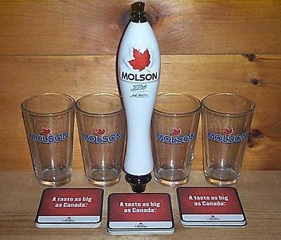 Molson Ice Ceramic Tap Handlekeg Marker 4 Beer Pint