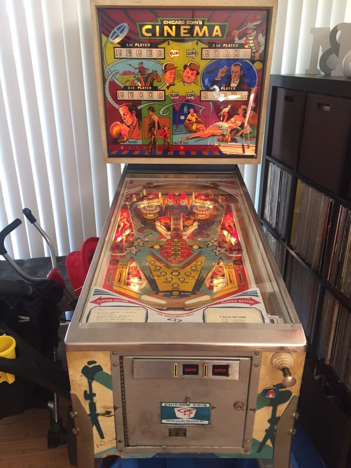 chicago coin cinema pinball machine
