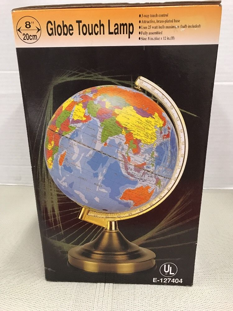 Realistic Earth World Globe Touch Lamp Educational