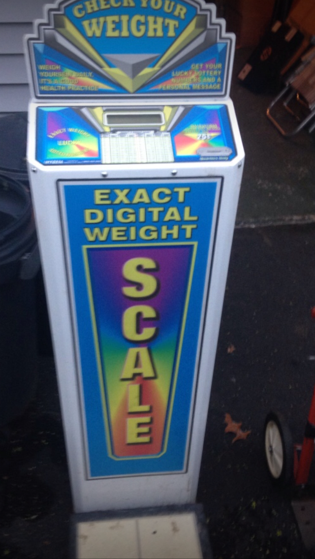 weight scale vending machine