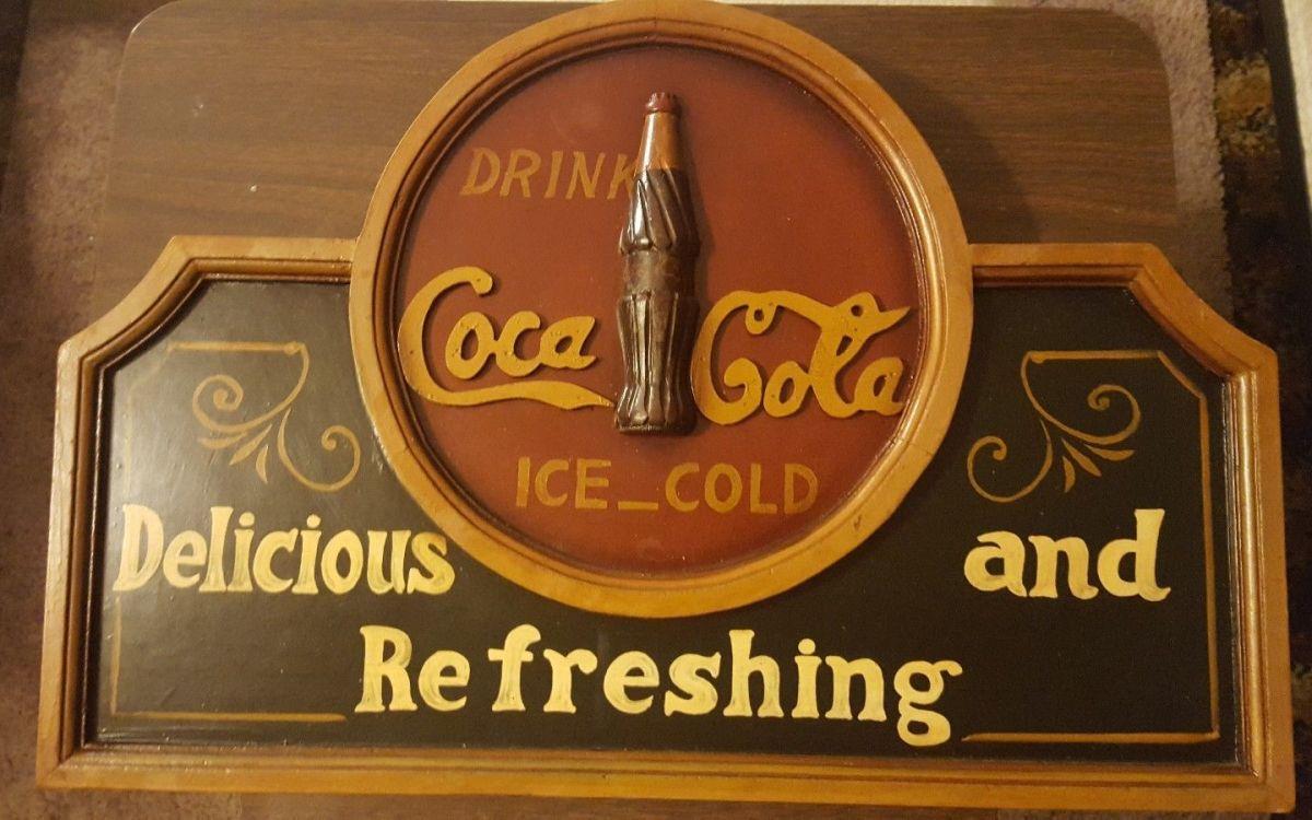 vintage coca cola sign plaque 23 1 2 x 16 site title. Black Bedroom Furniture Sets. Home Design Ideas