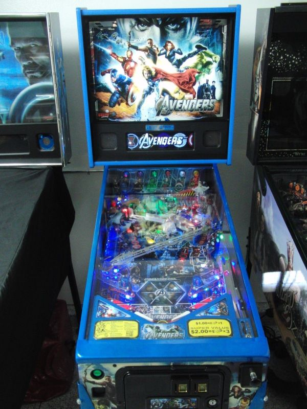 The Avengers Le Blue Pinball, Stern,huo,tuned In,$900+ Of