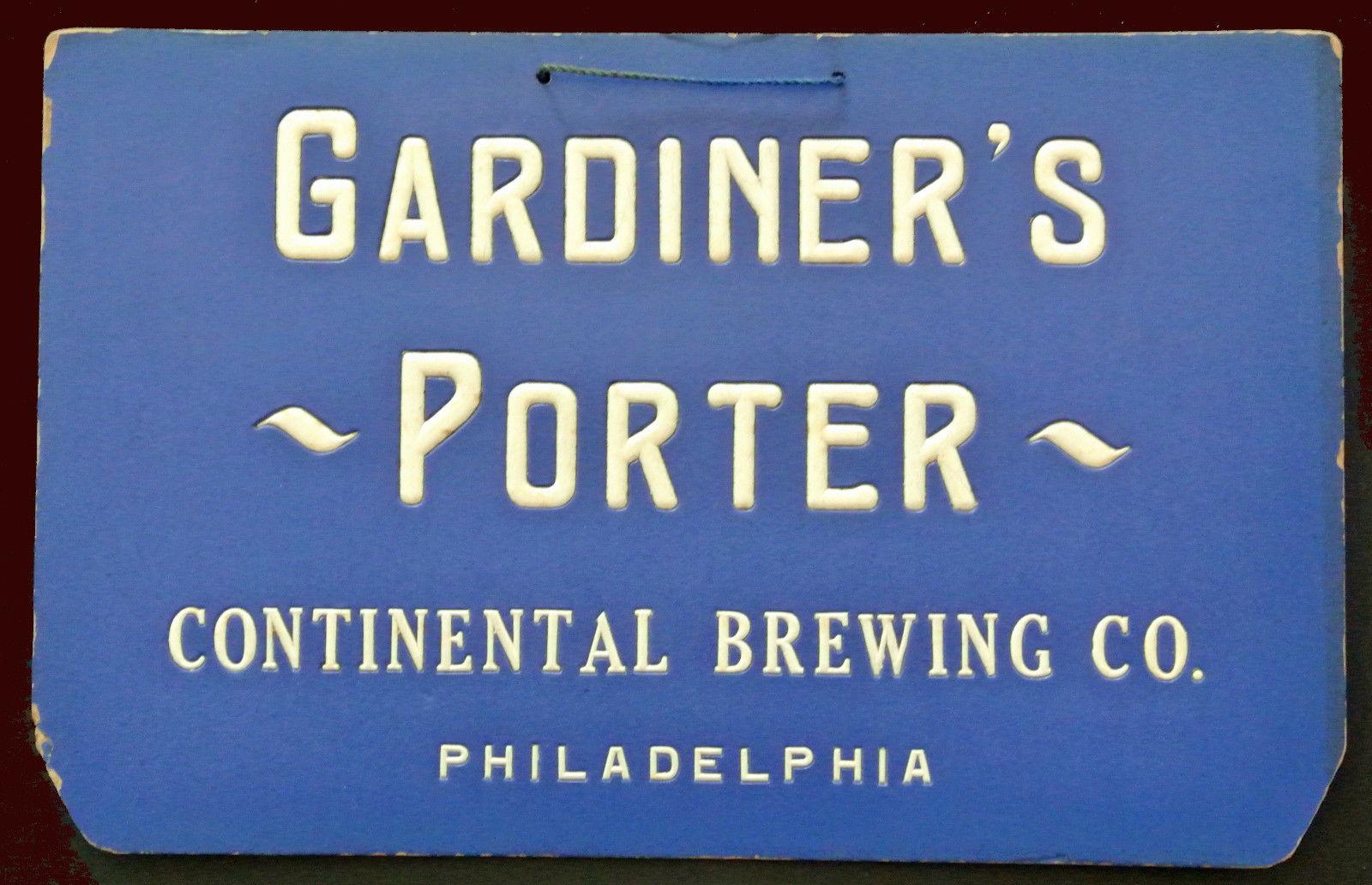 Pre pro continental brewing company sign gardiner s for Pre porter website