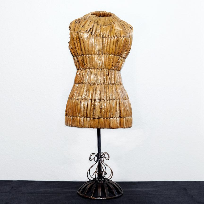 Vintage Old Mannequin Dressmakers Form Art Fashion