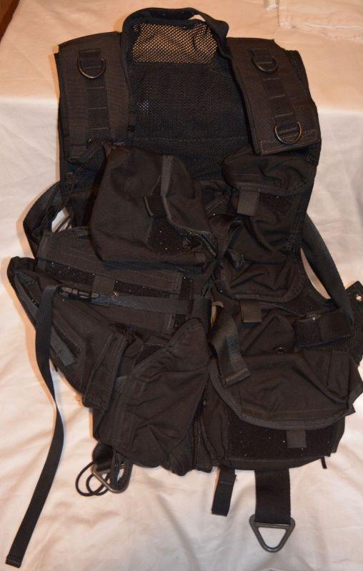 Aws Inc Medical Vest Black Trauma Combat Medic Sf Sof Pj Delta