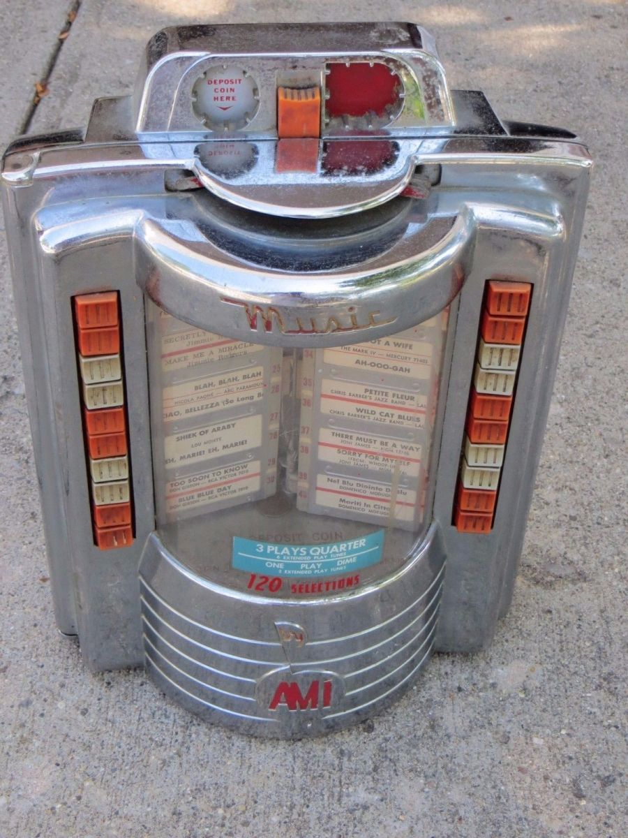 Ami Coin Op Jukebox 120 Wallbox Table Top Coin Operated ...