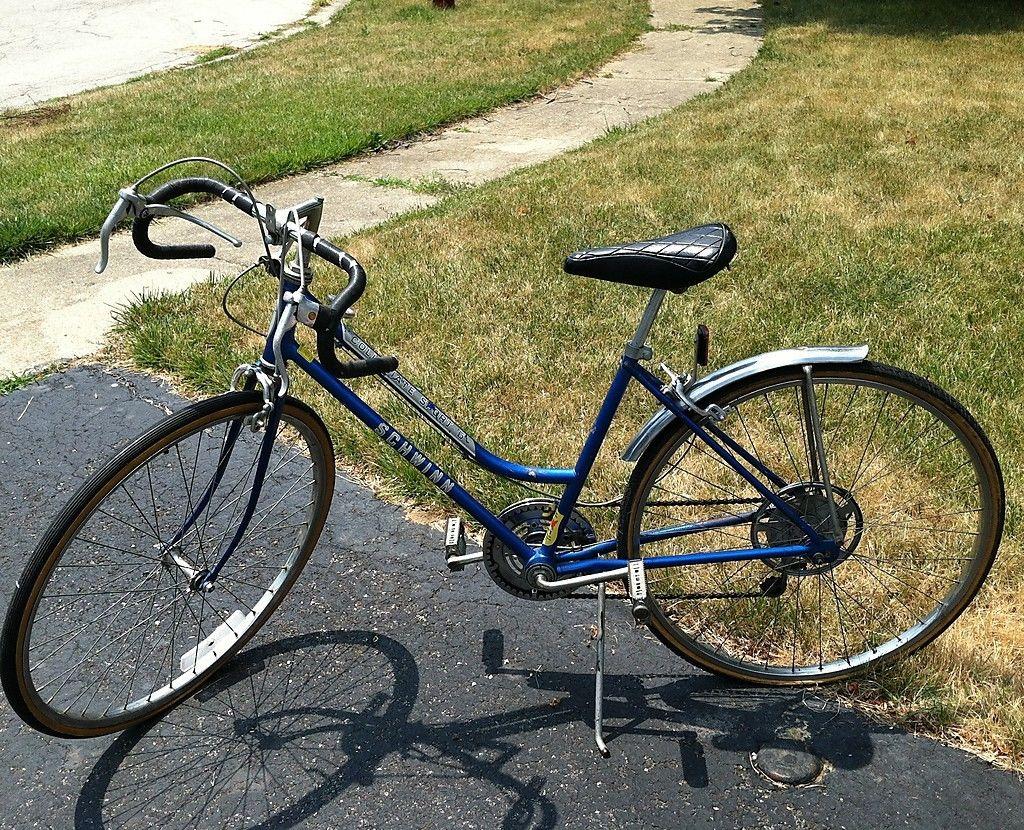 Girls Schwinn Collectible Bicycles : Vintage schwinn collegiate sport bicycle bike speed blue