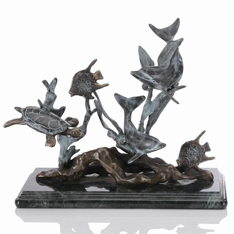 small dolphin seaworld sea life statue sculpture nautical. Black Bedroom Furniture Sets. Home Design Ideas
