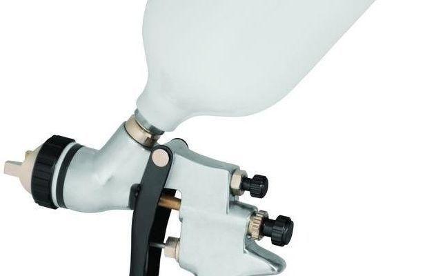 husky gravity feed hvlp spray gun air paint sprayer tool